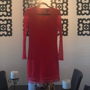 Laundry Red Lace Dress! Size 2!